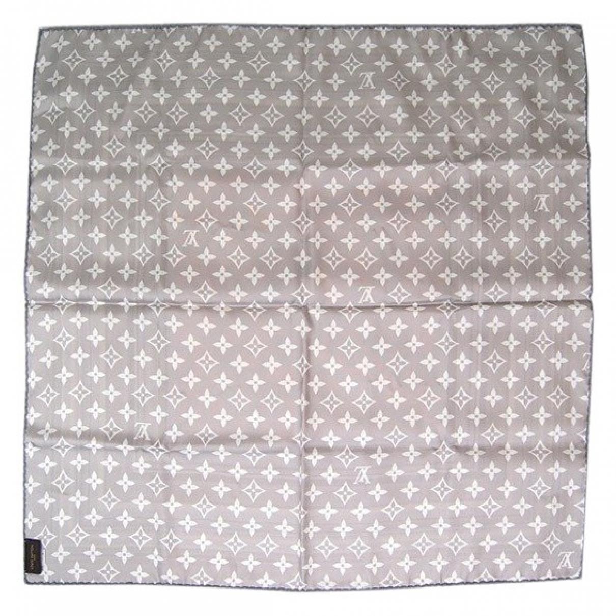 Louis Vuitton - Foulard   pour femme en soie - gris