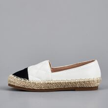 Toddler Girls Cap Toe Quilted Espadrille Flats
