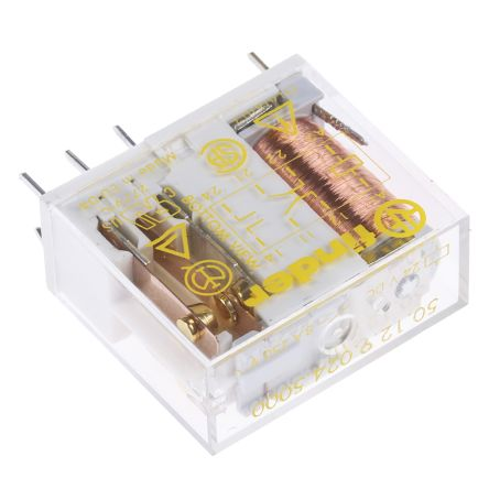 Finder , 24V dc Coil Non-Latching Relay DPDT, 15A Switching Current PCB Mount, 2 Pole
