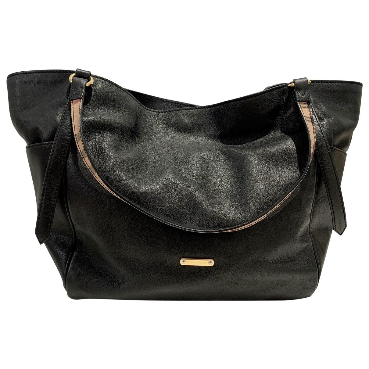 Burberry \N Black Leather handbag for Women \N