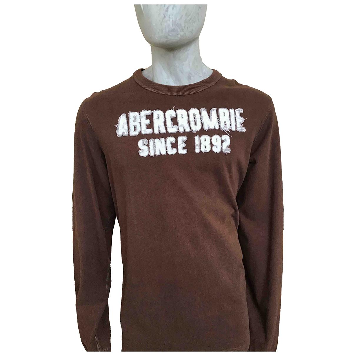 Abercrombie & Fitch - Tee shirts   pour homme en coton - marron