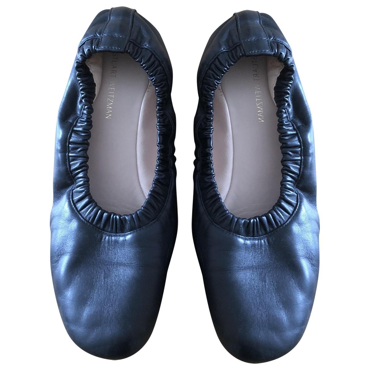 Stuart Weitzman \N Ballerinas in  Schwarz Leder