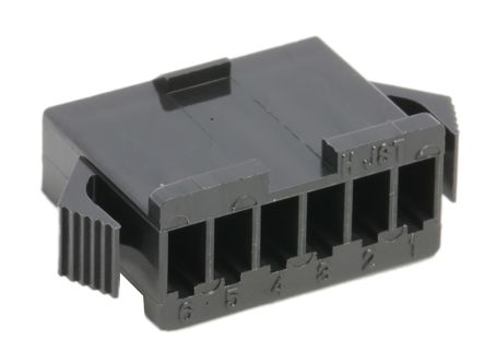 JST , 6 Way, 1 Row, Straight Backplane Connector (10)