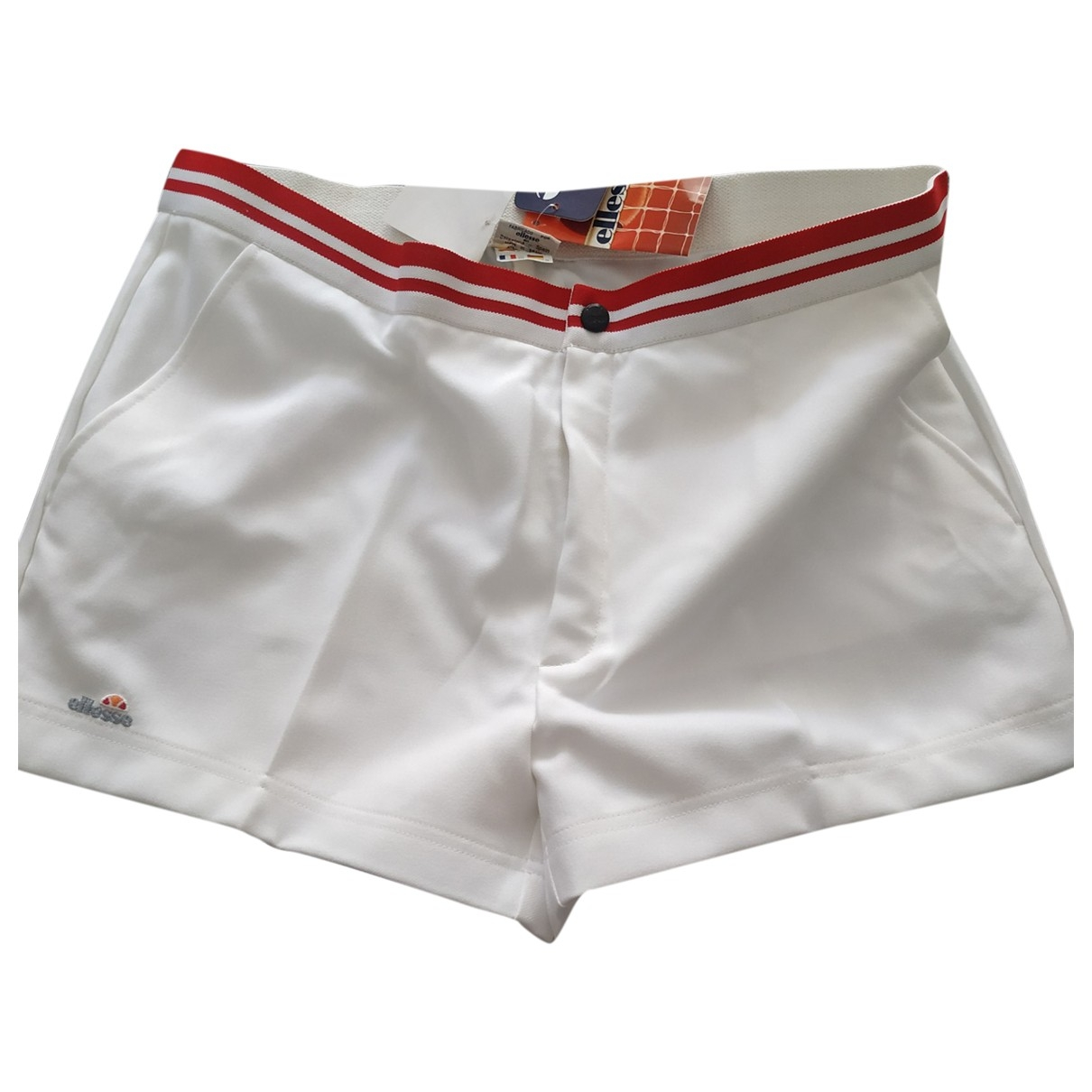 Ellesse \N Shorts in  Weiss Polyester