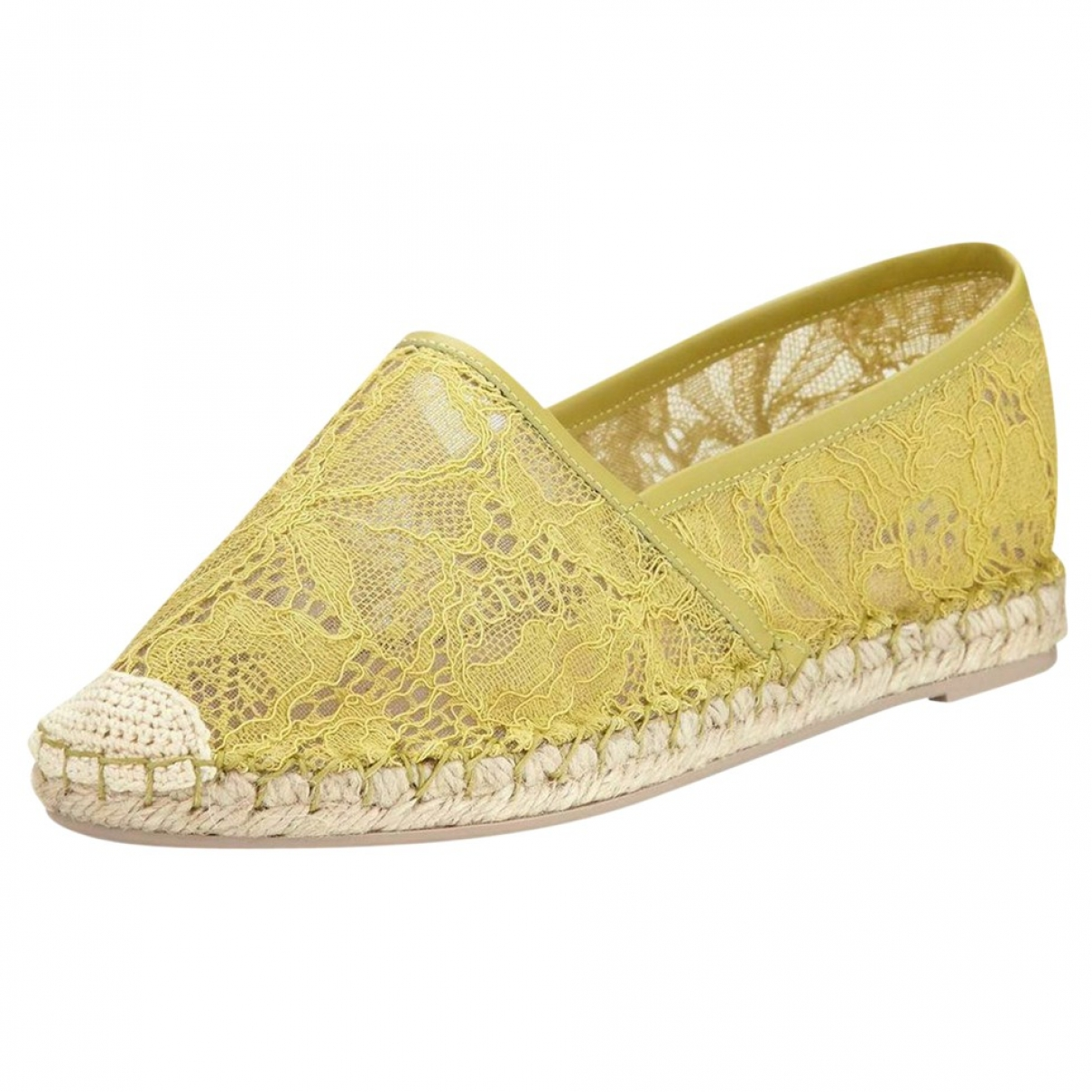 Valentino Garavani - Espadrilles   pour femme en toile - jaune