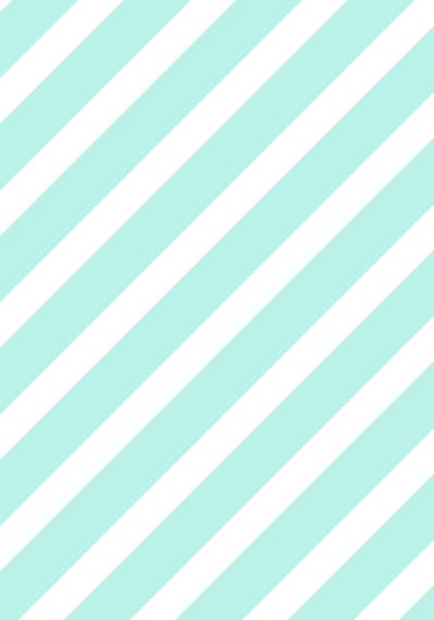 Non-Photo 3.5x5 Folded Notecard, Card & Stationery -Aqua Stripes