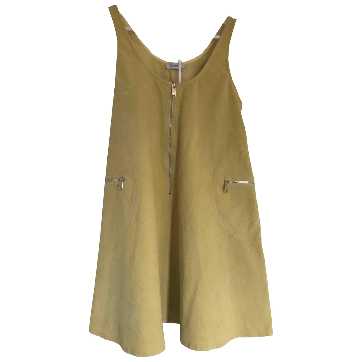 Max & Co \N Yellow Cotton - elasthane dress for Women 36 FR