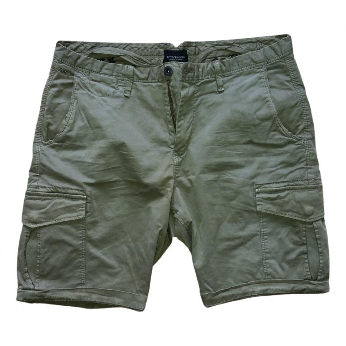 Scotch & Soda \N Shorts in  Khaki Baumwolle