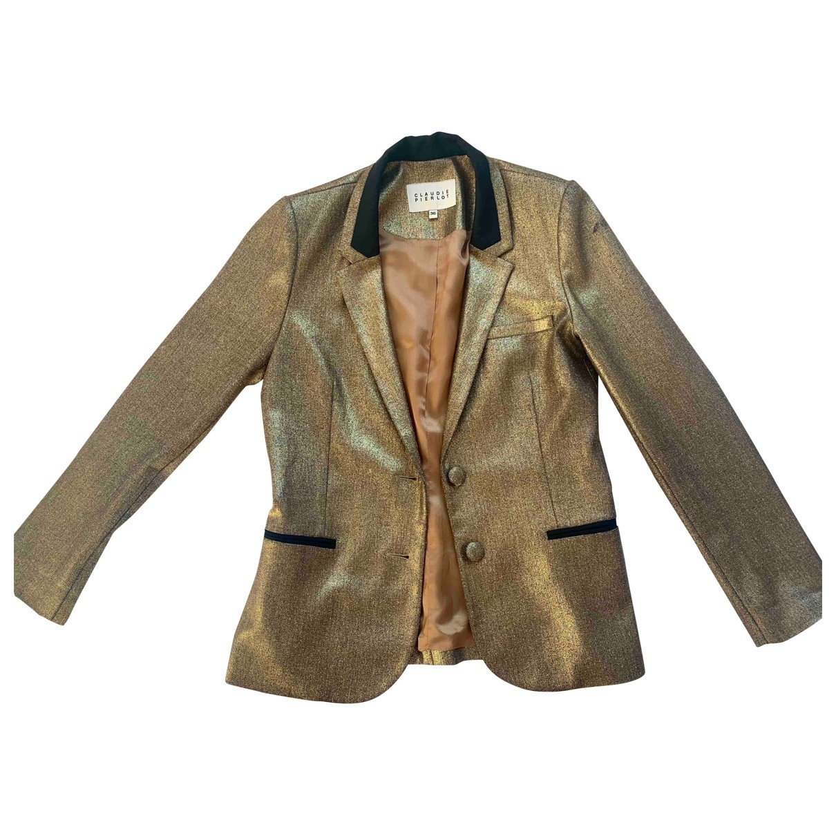Claudie Pierlot \N Jacke in  Gold Mit Pailletten
