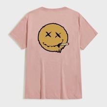 T-Shirt mit Laecheln Muster