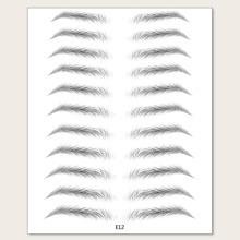 11pairs Bionic Eyebrow Sticker
