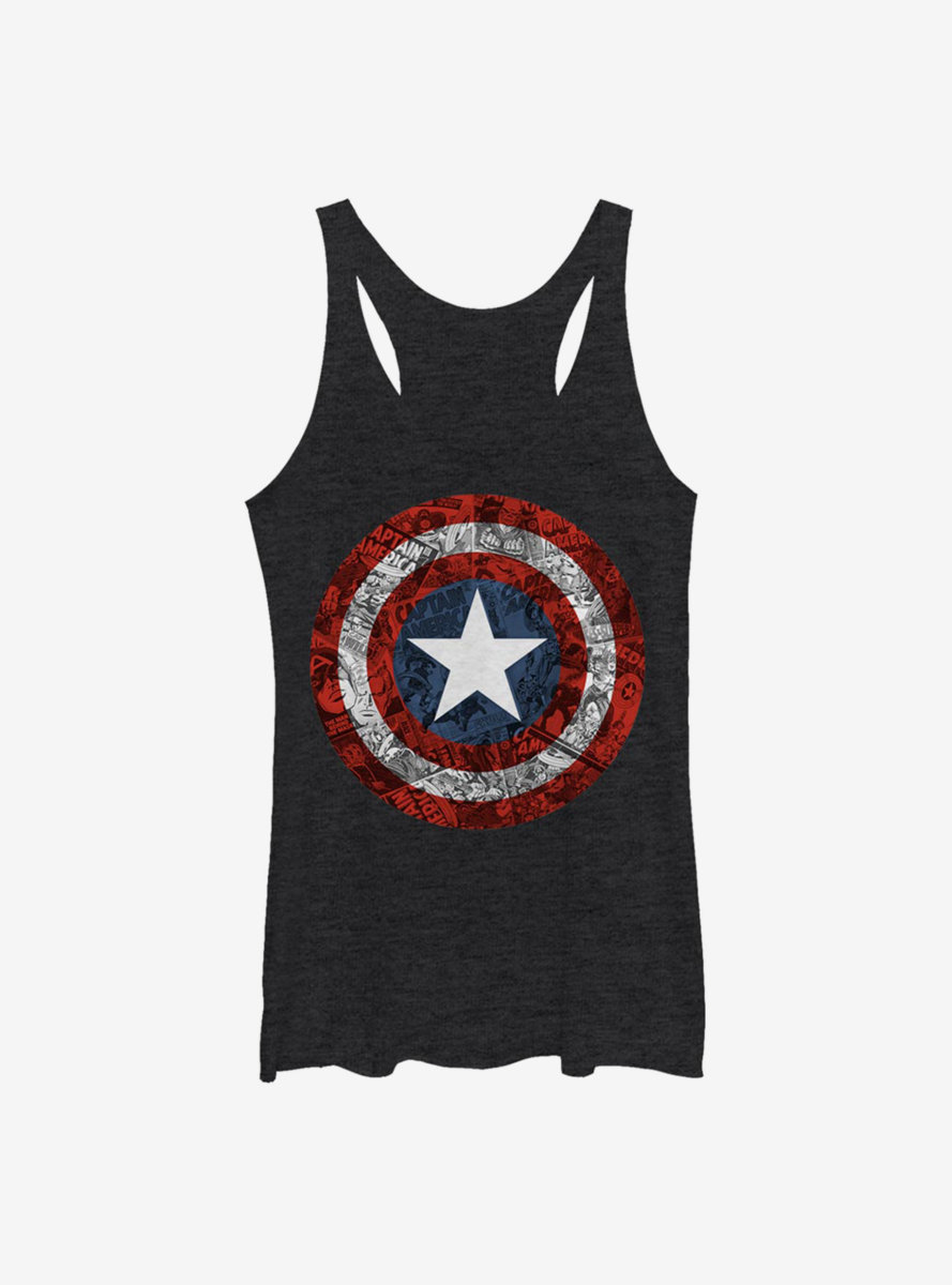 Marvel Captain America Comic Book Shield Womens Tank Top