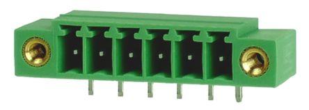 RS PRO , 6 Way, 1 Row, Right Angle PCB Terminal Block Header (10)