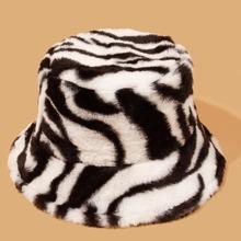 Guys Zebra Striped Pattern Bucket Hat