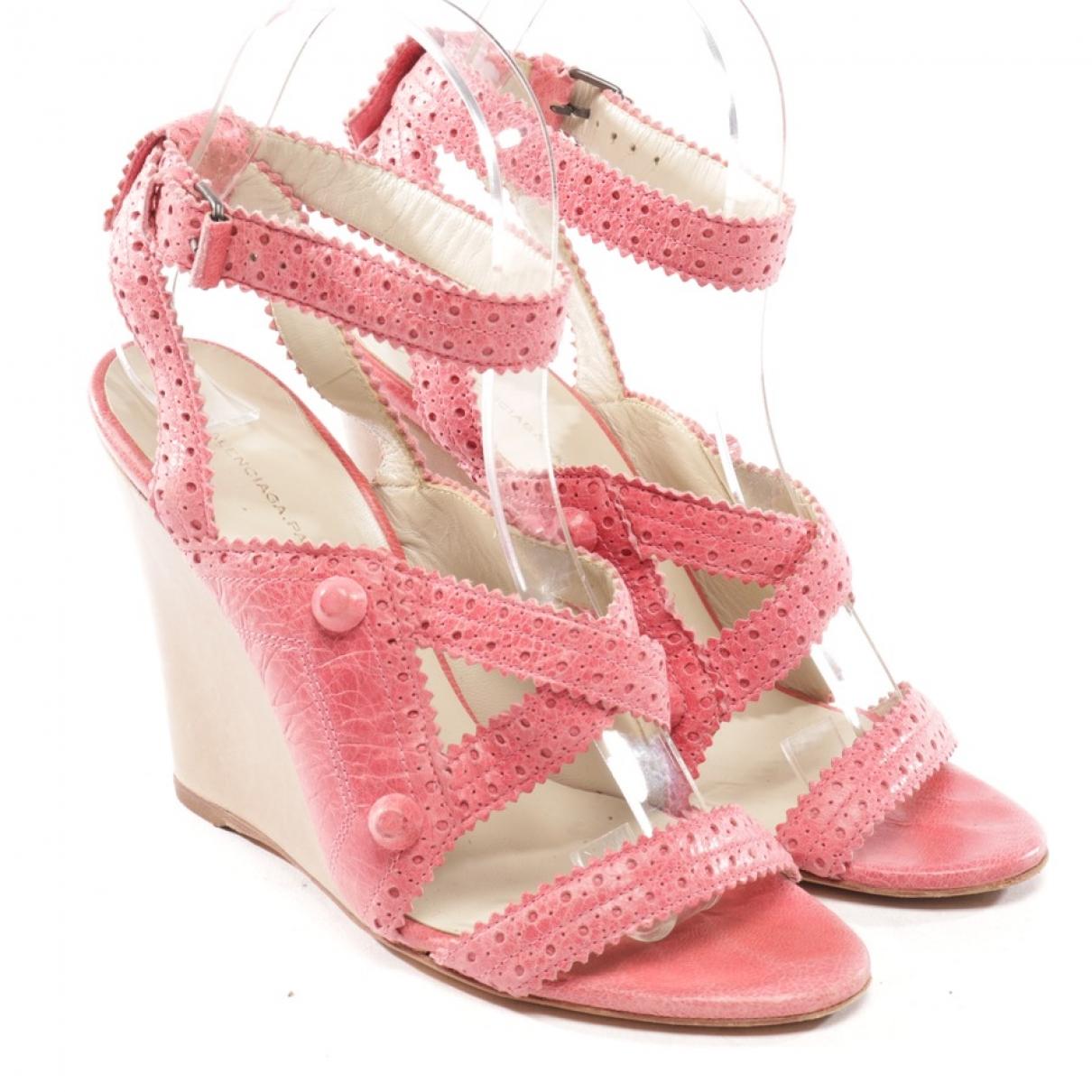Balenciaga - Sandales   pour femme en cuir - rose