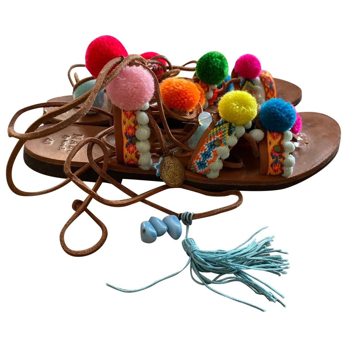 Manu Atelier - Sandales   pour femme en toile - multicolore