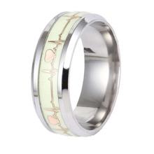 1pc Dark Luminous ECG Ring
