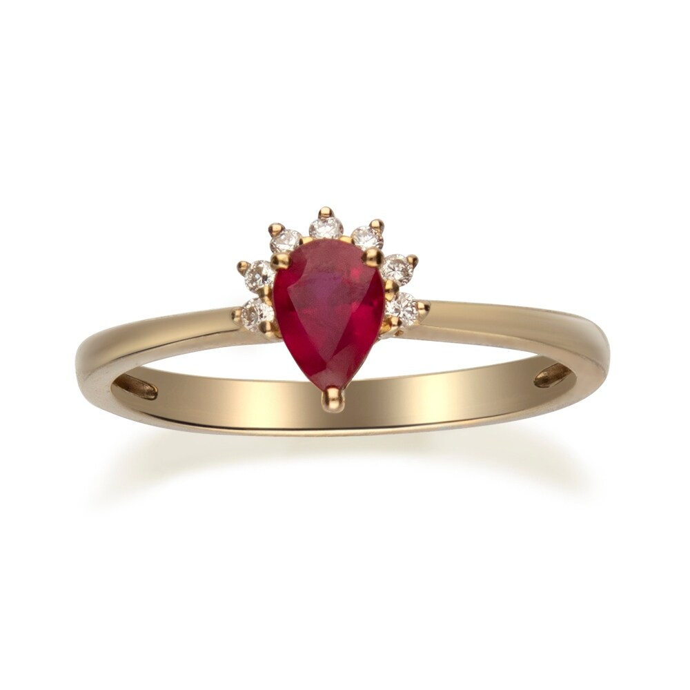 10K Yellow Gold Ruby & Diamond By Anika and August - White (8)