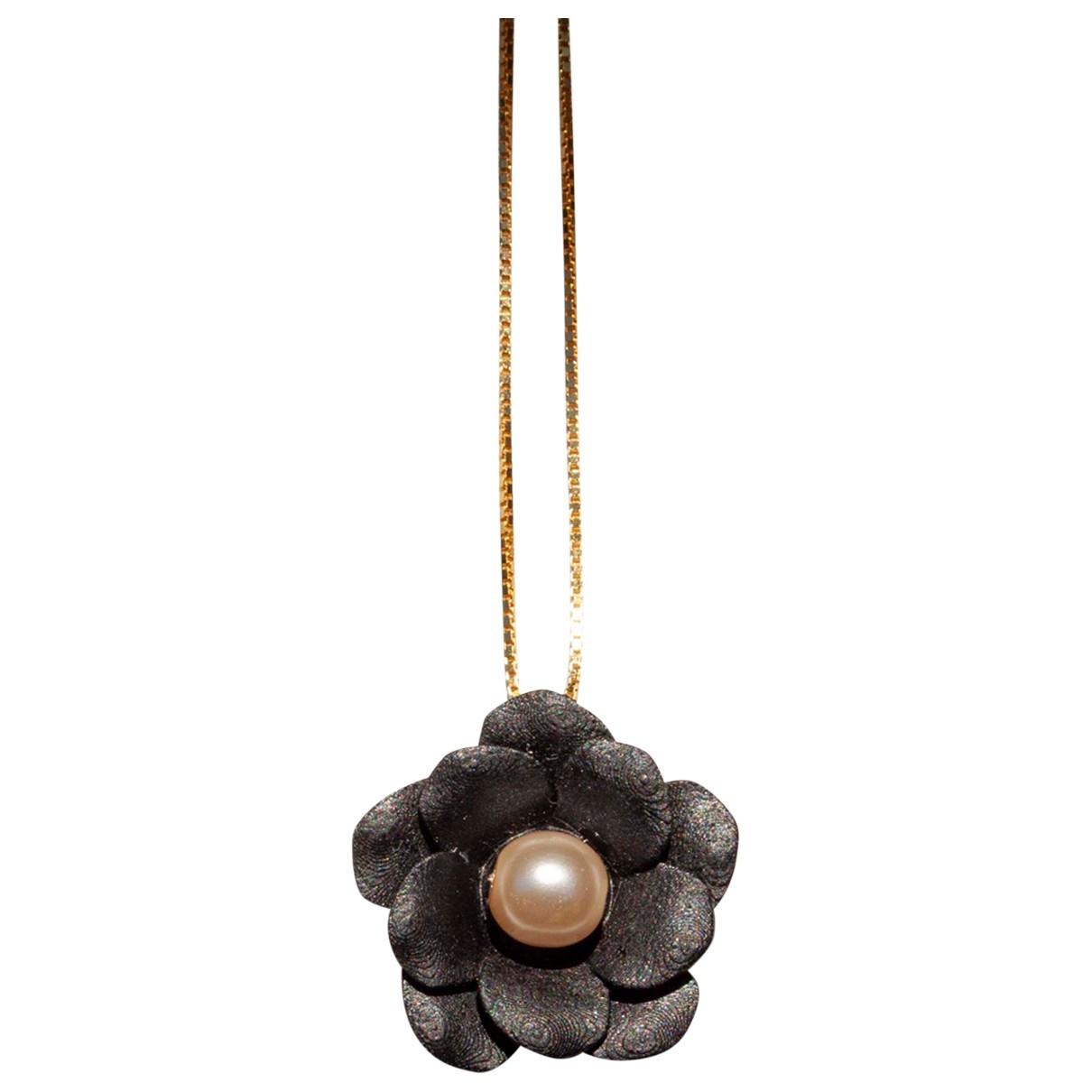 - Collier Motifs Floraux pour femme en plaque or - dore
