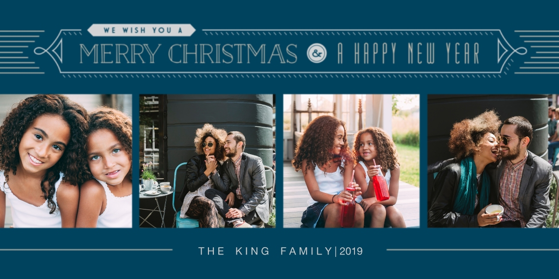 Christmas Photo Cards Flat Glossy Photo Paper Cards with Envelopes, 4x8, Card & Stationery -Seasonal Wishes