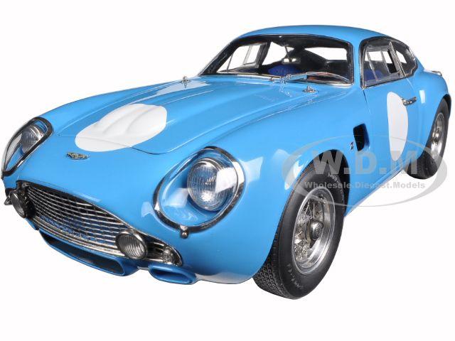 1961 Aston Martin DB4 GT Zagato Blue Limited to 1500pc 1/18 Diecast Car Model by CMC