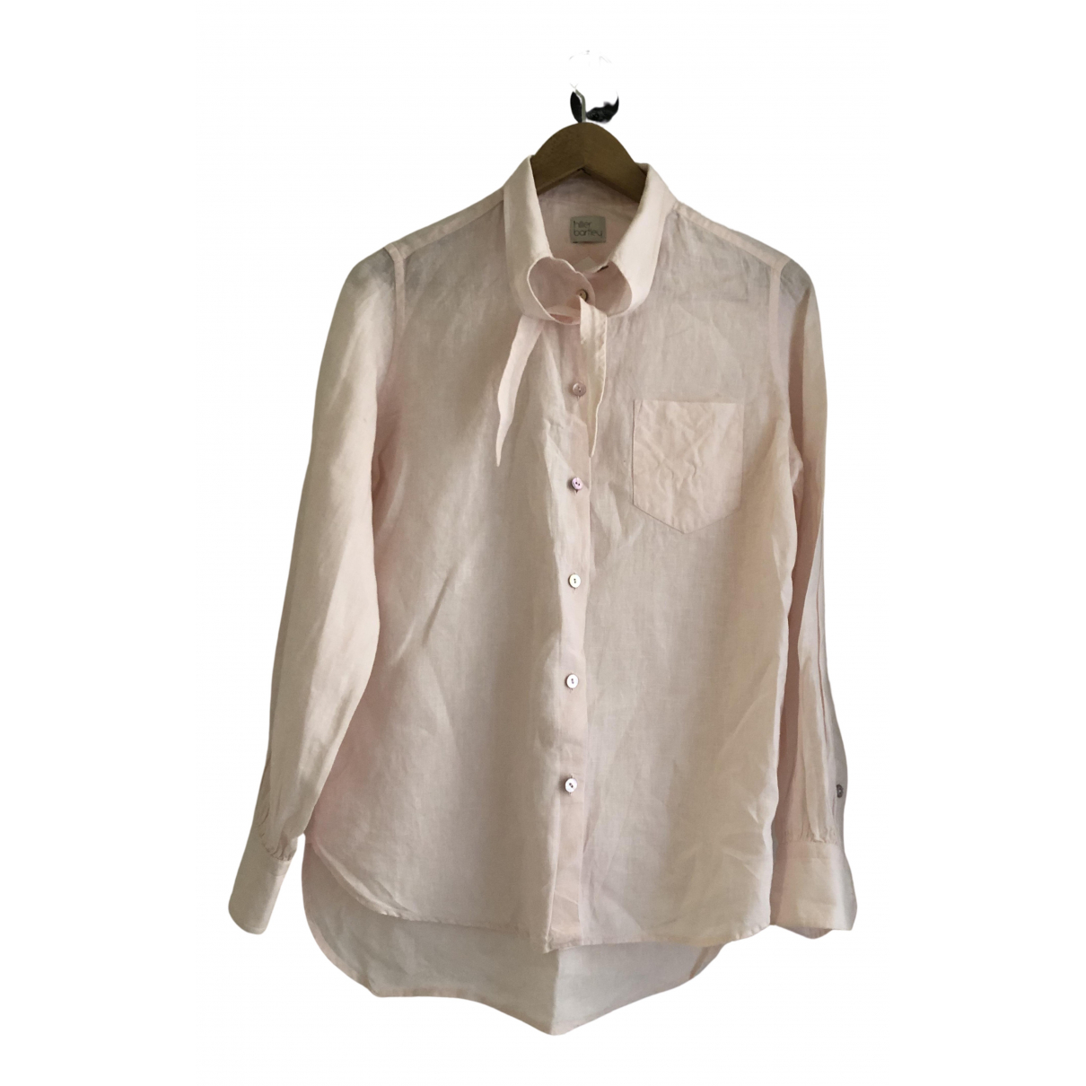 Hillier Bartley - Top   pour femme en lin - rose