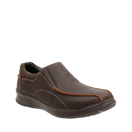 Clarks Cotrell Step Mens Leather Casual Shoes, 12 Medium, Brown