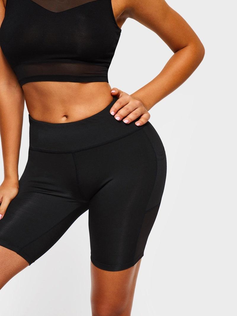 Ericdress Women Pockets Anti-Sweat Solid Gym Sports Yoga Shorts