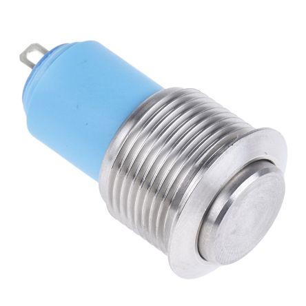 APEM Single Pole Single Throw (SPST) Latching Push Button Switch, IP65, 19.2 (Dia.)mm, 48V dc