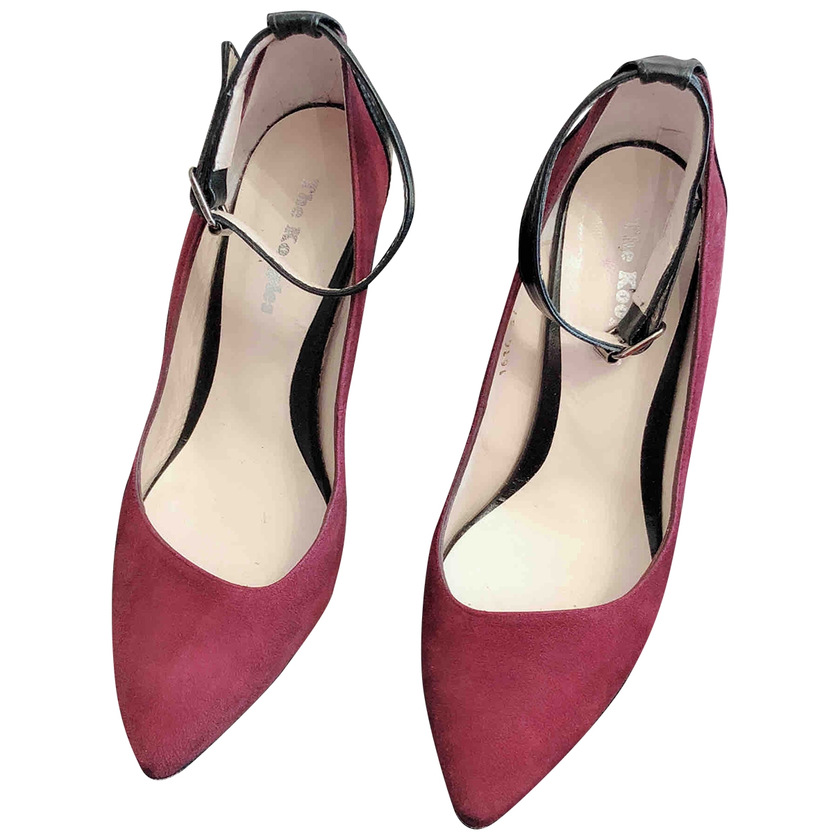 The Kooples \N Burgundy Leather Heels for Women 37 EU