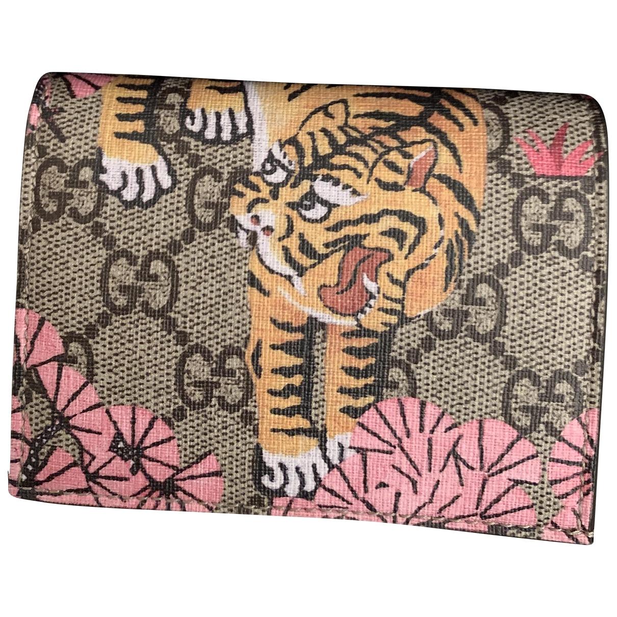 Gucci - Portefeuille   pour femme en toile - rose
