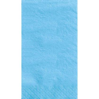 Party Guest Towel Napkins Solid Color 33*40cm 13*16In 2-Ply Powder Blue 20Pcs