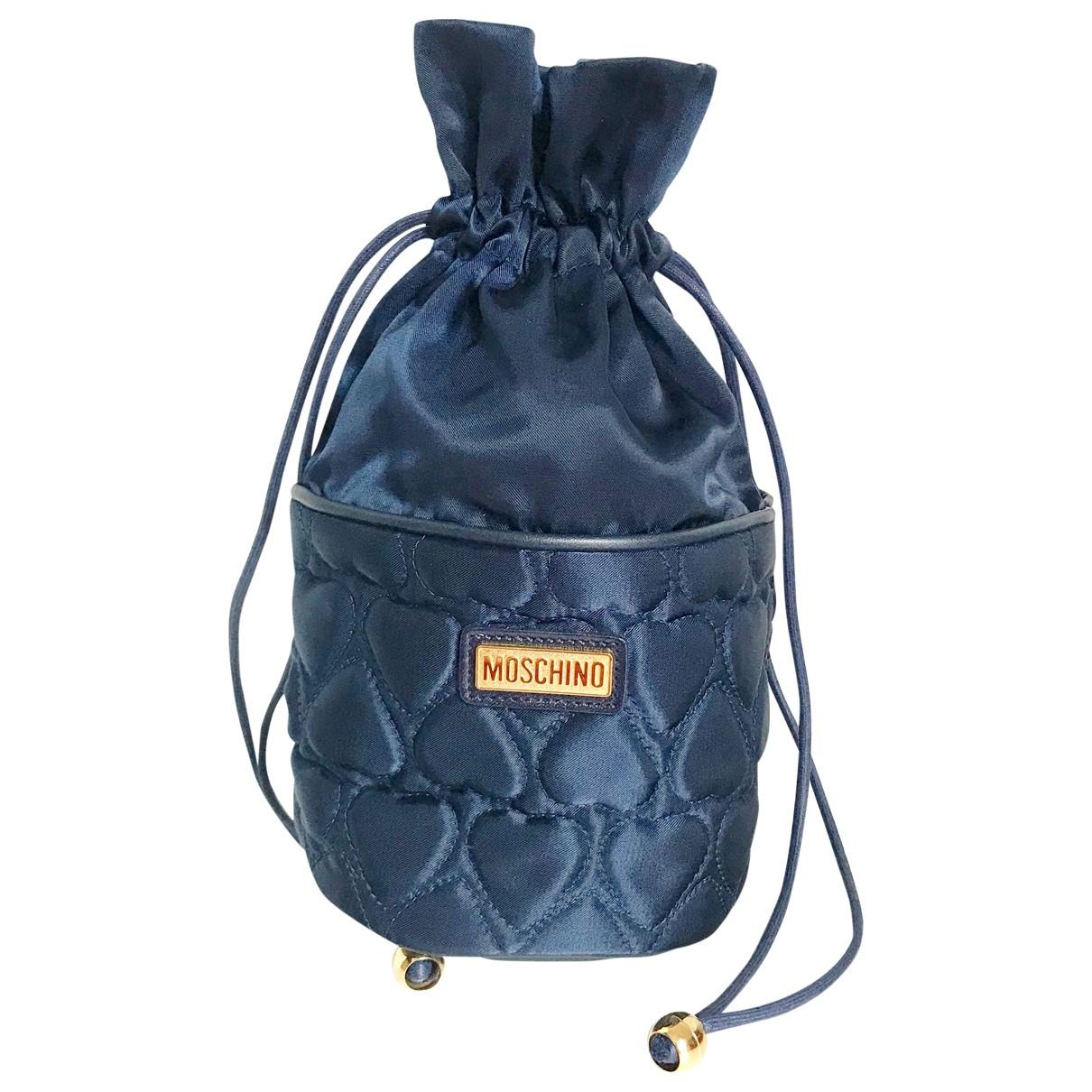Moschino \N Handtasche in  Marine Leinen