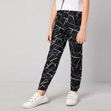 Boys Geo Print Pants