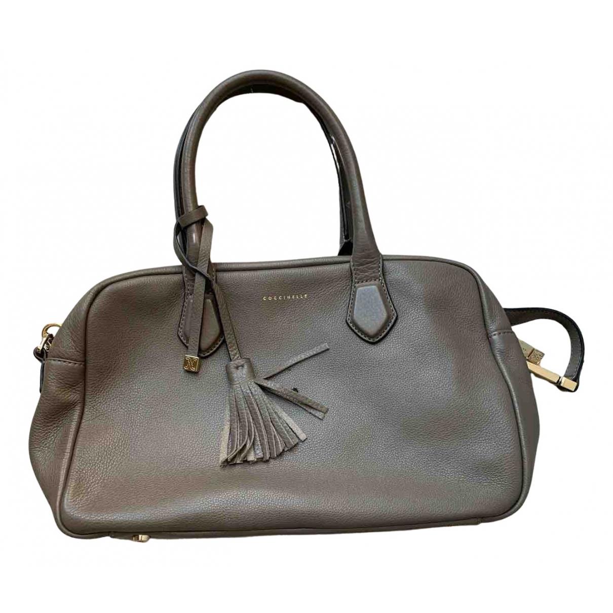 Coccinelle N Grey Leather handbag for Women N
