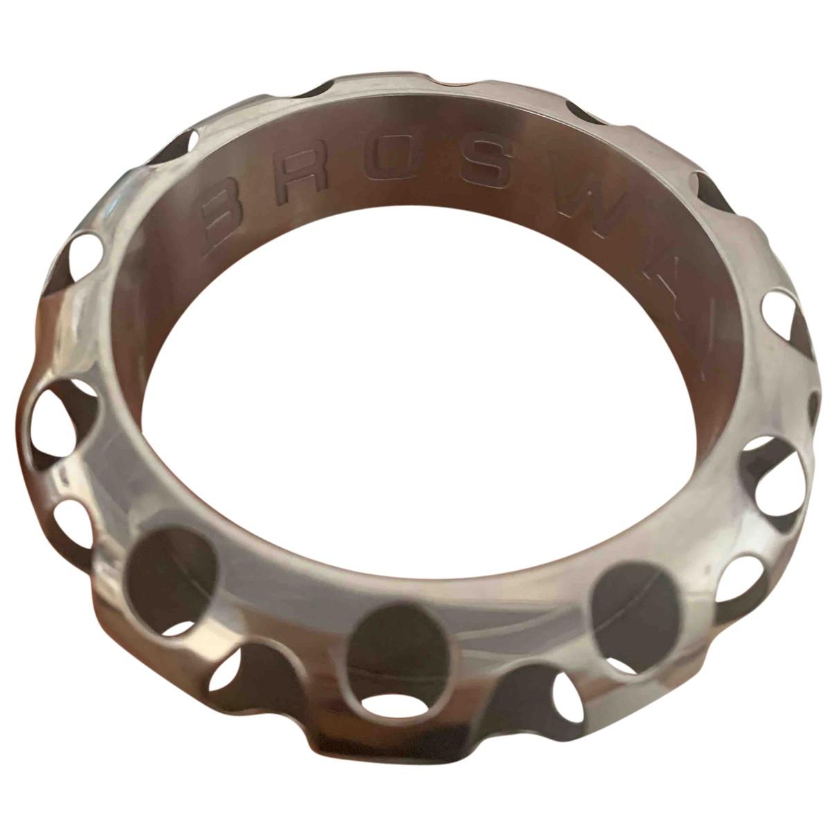 - Bracelet Jonc pour femme en metal - argente