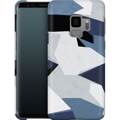 Samsung Galaxy S9 Smartphone Huelle - Geometric Camo Blue von caseable Designs