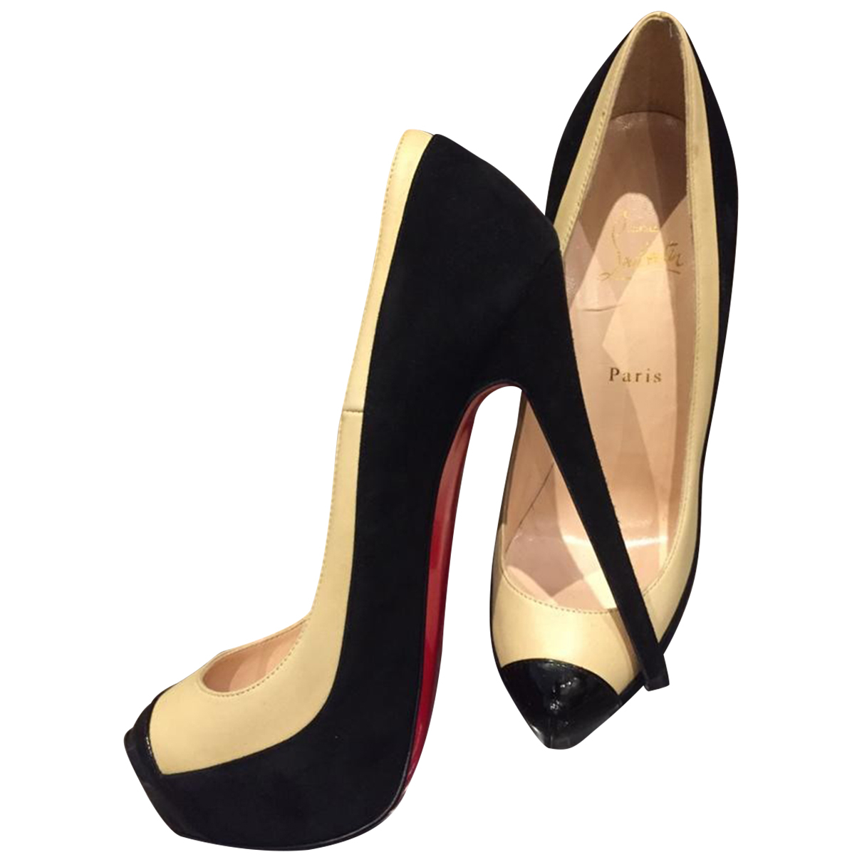 Christian Louboutin \N Beige Leather Heels for Women 40 EU