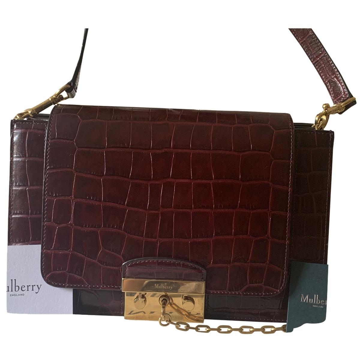Mulberry \N Burgundy Leather handbag for Women \N