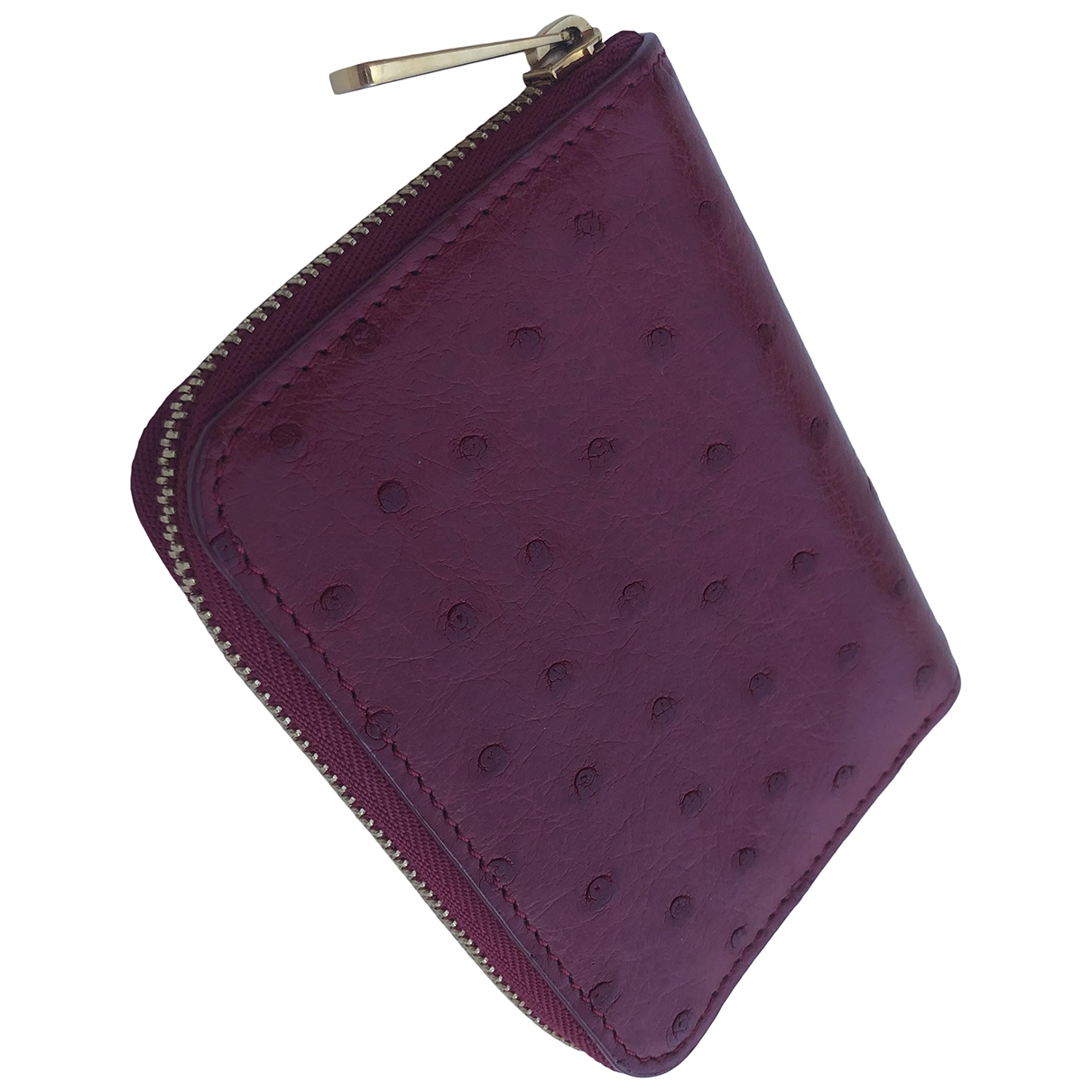 Louis Vuitton - Petite maroquinerie Zippy pour femme en autruche - rouge