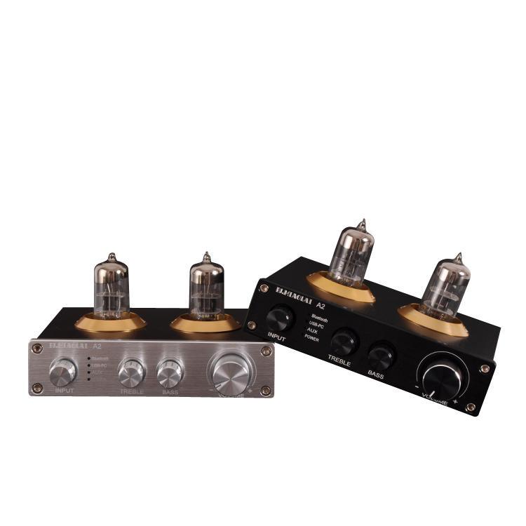PJ.MIAOLAI A2 ESS9023 bluetooth 5.0 HIFI Lossless 6N3 Vacuum Tube Preamp Amplifier DAC