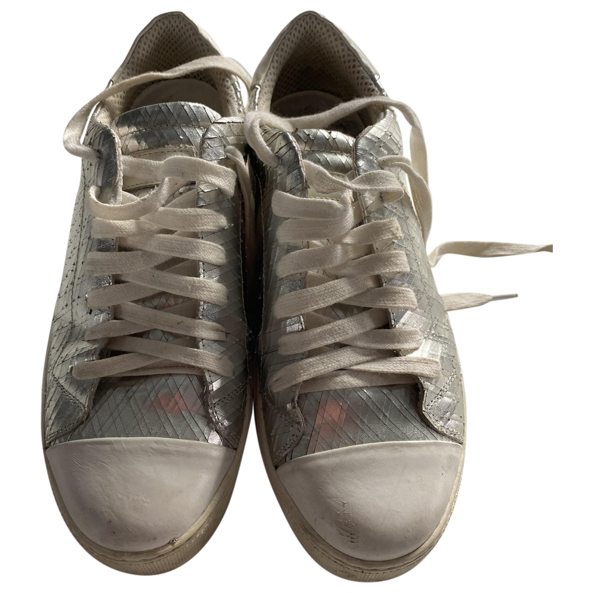 Pinko \N Sneakers in  Silber Leder