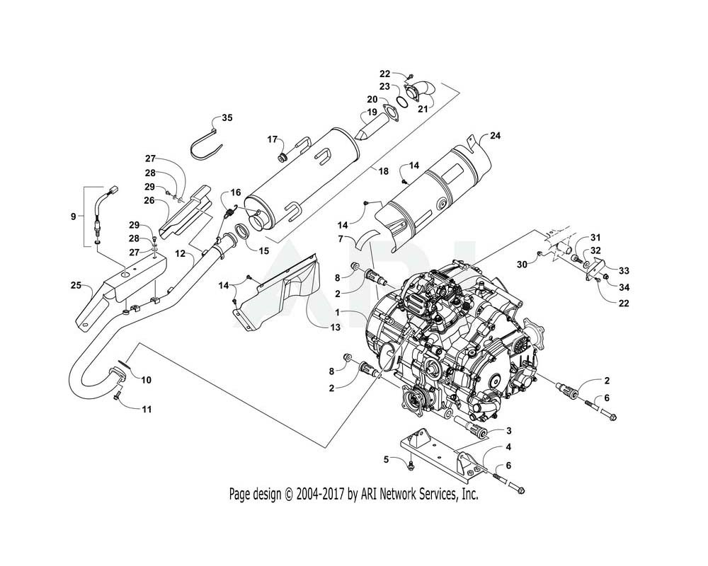 Arctic Cat OEM 0412-839 Shield Exhaust
