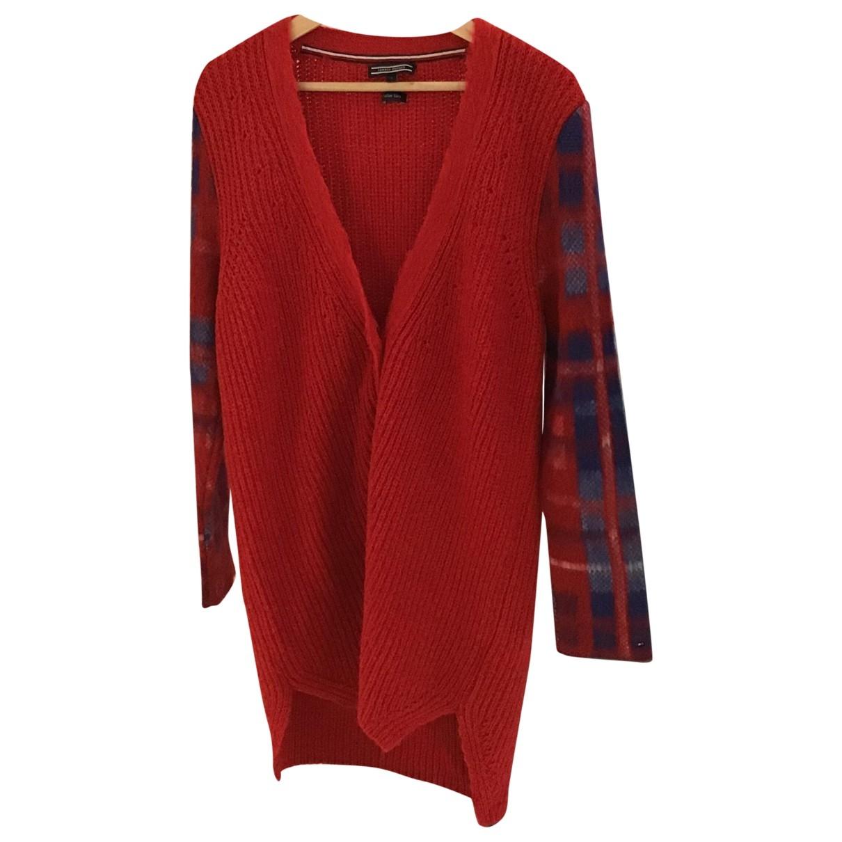 Tommy Hilfiger - Pull   pour femme en laine - rouge