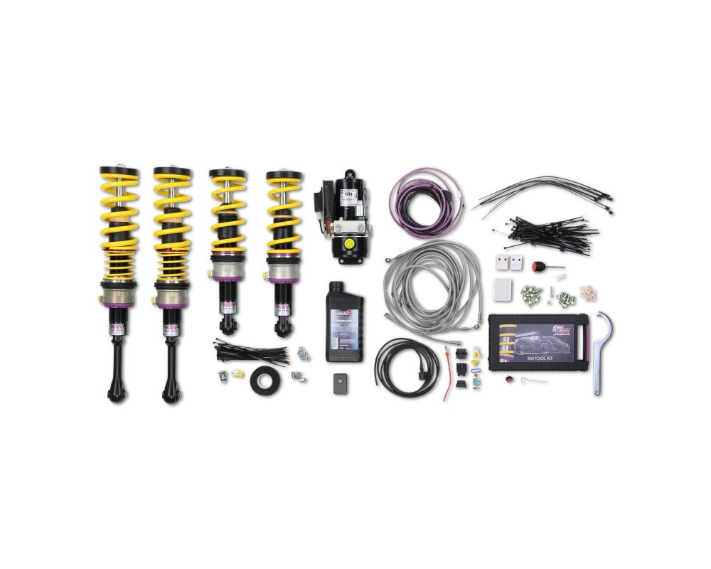 KW Coilover Kit V3 with HLS 4 Front & Rear Lift Coilovers Nissan GT-R R35 2009+