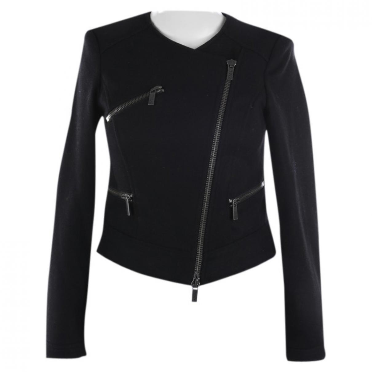 Karl Lagerfeld - Veste   pour femme en laine - noir