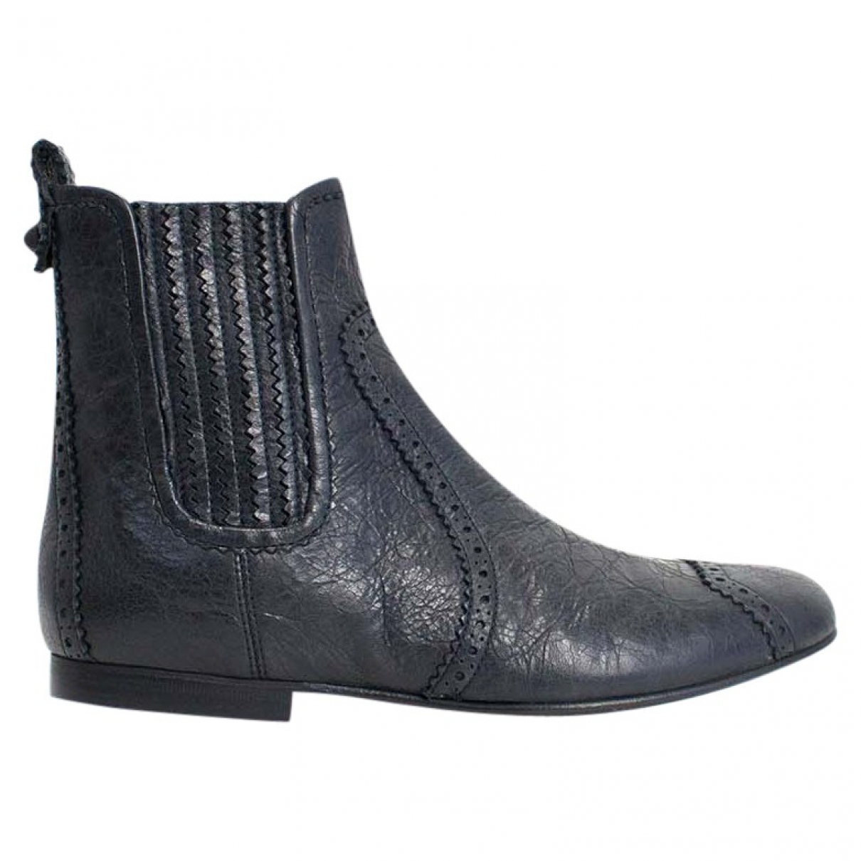 Balenciaga - Bottes   pour femme en cuir - noir