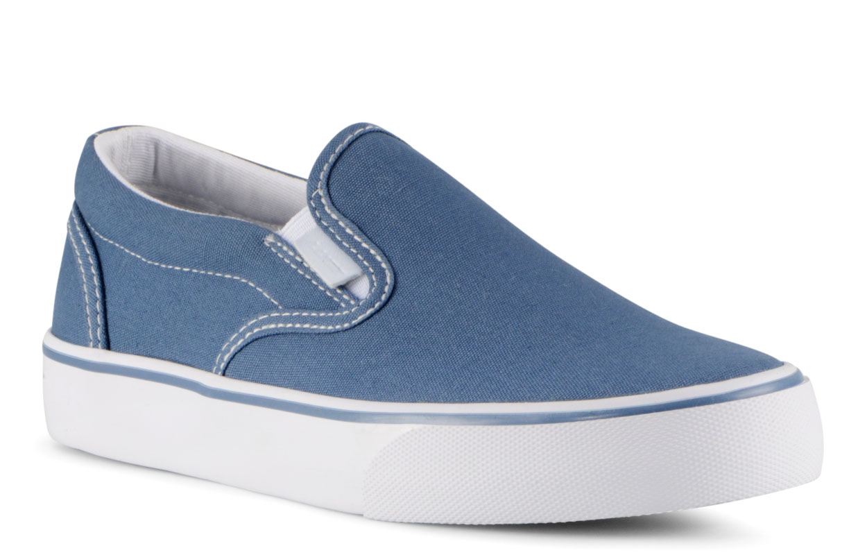 Women's Clipper 2 Slip-On Sneaker (Choose Your Color: BLUE/WHITE, Choose Your Size: 9.5)