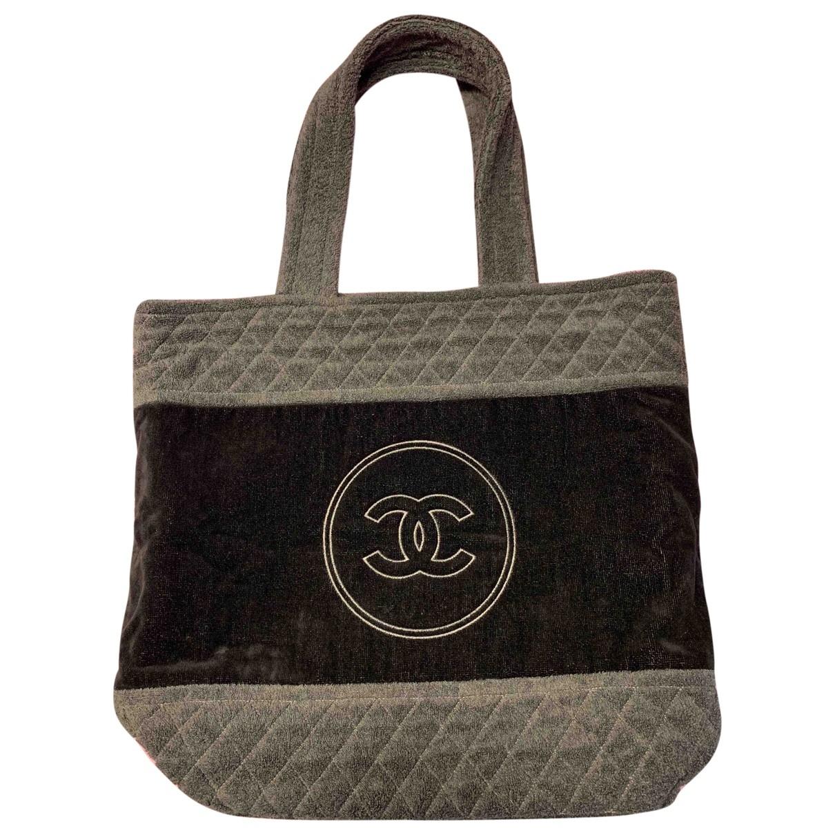 Chanel \N Handtasche in  Schwarz Baumwolle