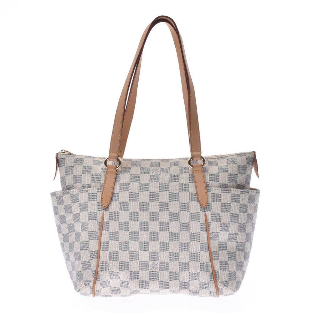 Louis Vuitton Totally Handtasche in  Ecru Leinen